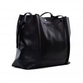 Δερμάτινη Τσάντα Arcadia Black χειρός / ώμου (8605)
