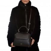 Δερμάτινη Τσάντα Arcadia Emma Black χειρός / χιαστί (2790)