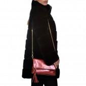 Δερμάτινη Τσάντα Arcadia Rubino Ώμου με αλυσίδα (0212)