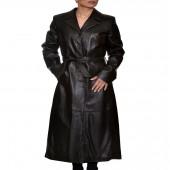 Δερμάτινο Παλτό Lamb 131cm Black ROSSI (R8CAPP)