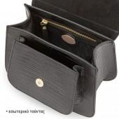 Δερμάτινη Τσάντα Arcadia Black Χειρός / Χιαστί (5460)
