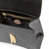 Δερμάτινη Τσάντα Arcadia Black χειρός/χιαστί (6791)