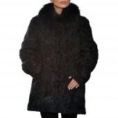 Γούνινη Ζακέτα Αστραγκάν 85cm Blue ΣΙΟΥΤΗΣ (142)