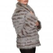 Γουνάκι 60cm Fox Lapin Grey Brown LES MAREES (FUR 631)