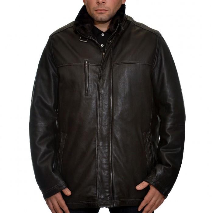 Δερμάτινο Jacket 78 cm Lamb Black Bugatti (5801-580)