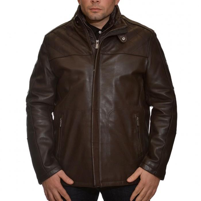 Δερμάτινο Jacket 78 cm Lamb Dark Brown Trapper (Gordon)