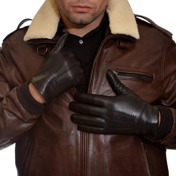 Δερμάτινα Ανδρικά Γάντια Black BRUNO CARLO (SKU=331)