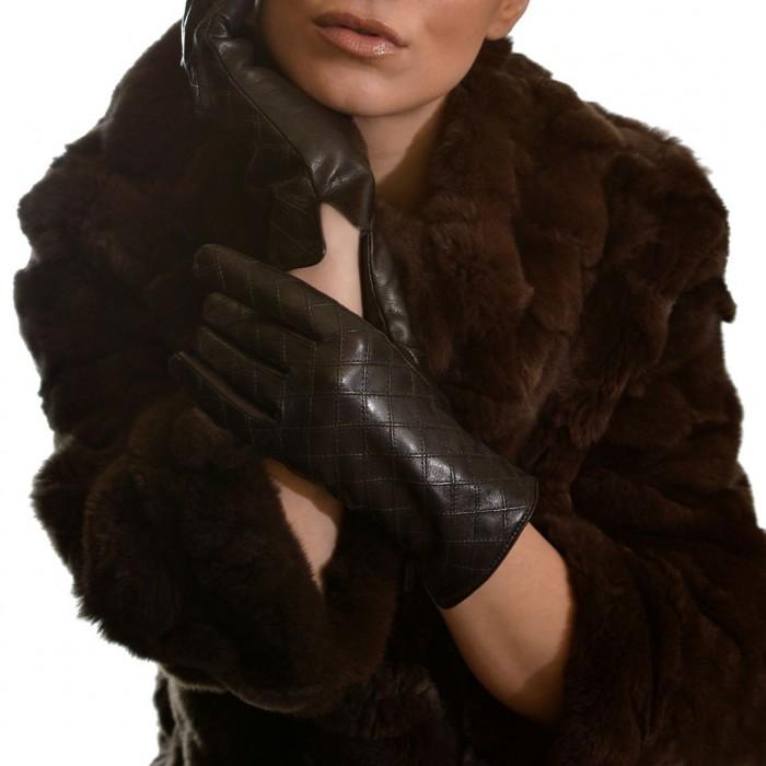 Δερμάτινα Γυναικεία Γάντια Lamb Dark Brown ANTONIO MUROLO (9022)