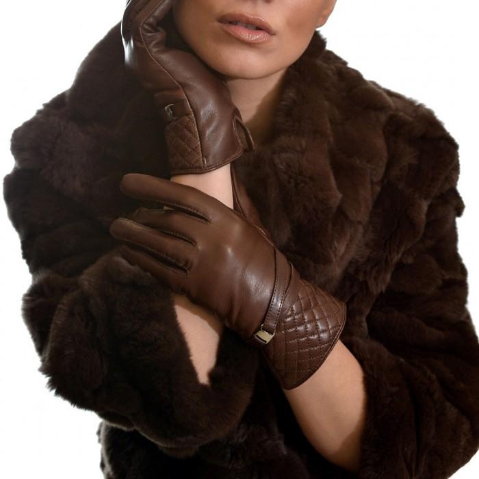 Δερμάτινα Γυναικεία Γάντια Lamb Brown ANTONIO MUROLO (9047)