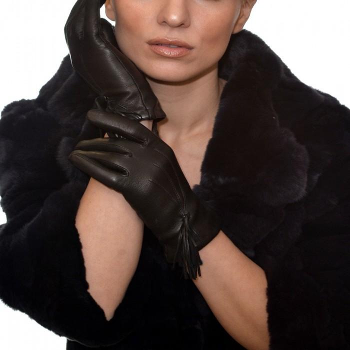 Δερμάτινα Γυναικεία Γάντια Lamb Black ANTONIO MUROLO (9020)
