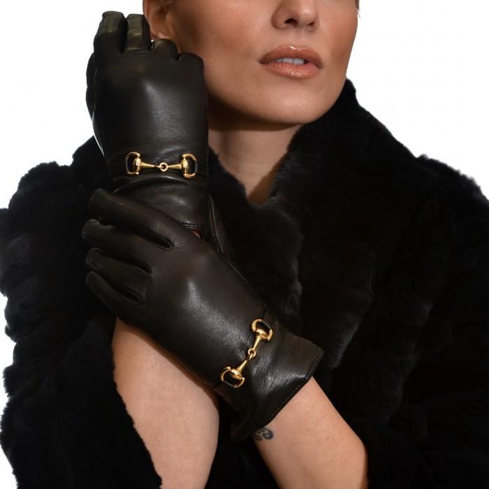 Δερμάτινα Γυναικεία Γάντια Lamb Black ANTONIO MUROLO (900)