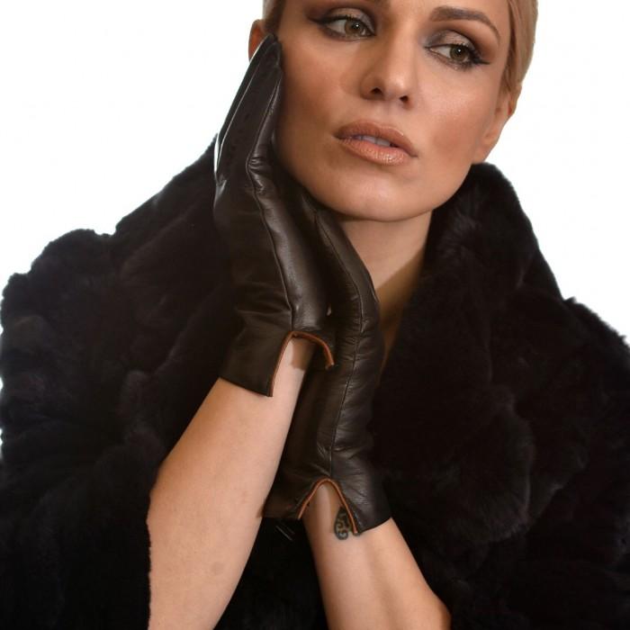 Δερμάτινα Γυναικεία Γάντια Lamb Black BRUNO CARLO (32-LAT)