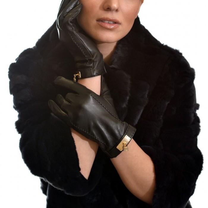 Δερμάτινα Γυναικεία Γάντια Lamb Black BRUNO CARLO (05-L)
