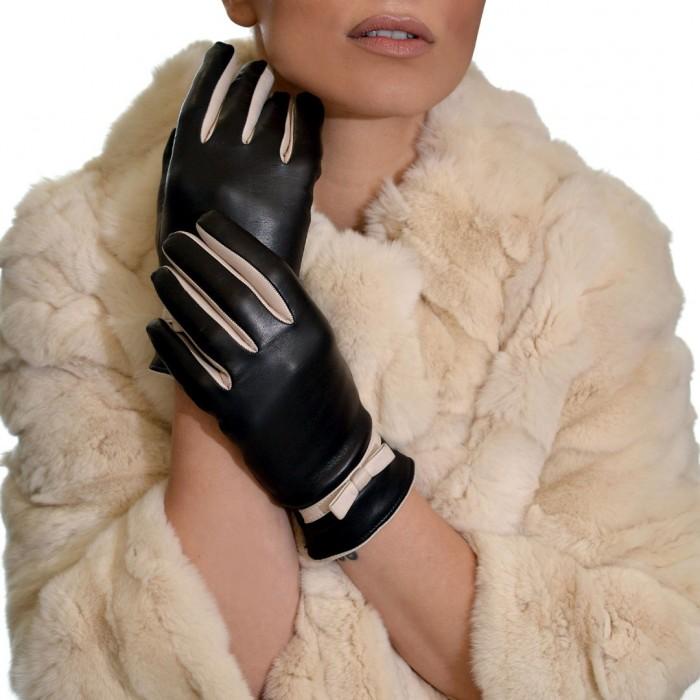 Δερμάτινα Γυναικεία Γάντια Lamb Black BRUNO CARLO (95-10)