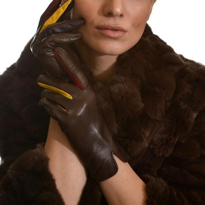 Δερμάτινα Γυναικεία Γάντια Lamb Brown FLORENS GLOVES (9048)