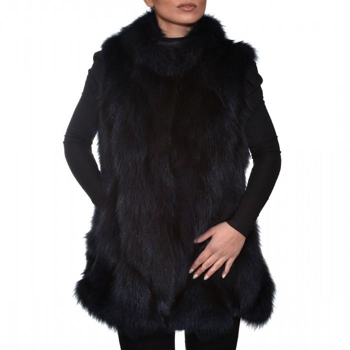 Γούνινο Γιλέκο Fox 76cm Blue Black ΣΙΟΥΤΗΣ (9030)