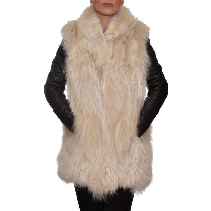 Γούνινο Γιλέκο 76cm White Ice ΣΙΟΥΤΗΣ (9036)