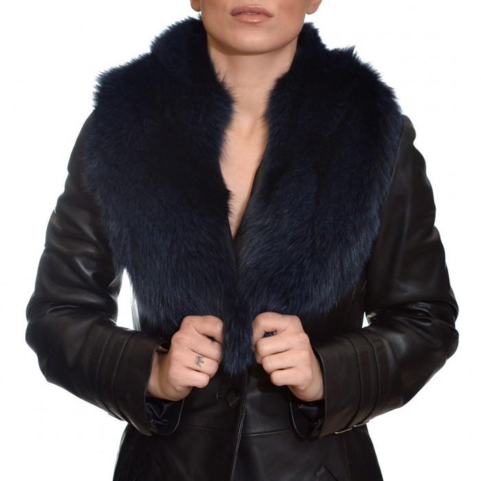 Γούνινος Γιακάς Fox Dark Blue ΣΙΟΥΤΗΣ (9043)