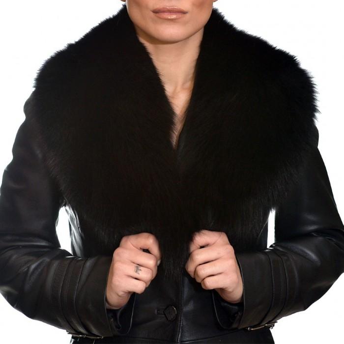 Γούνινος Γιακάς Fox Black ΣΙΟΥΤΗΣ (9039)