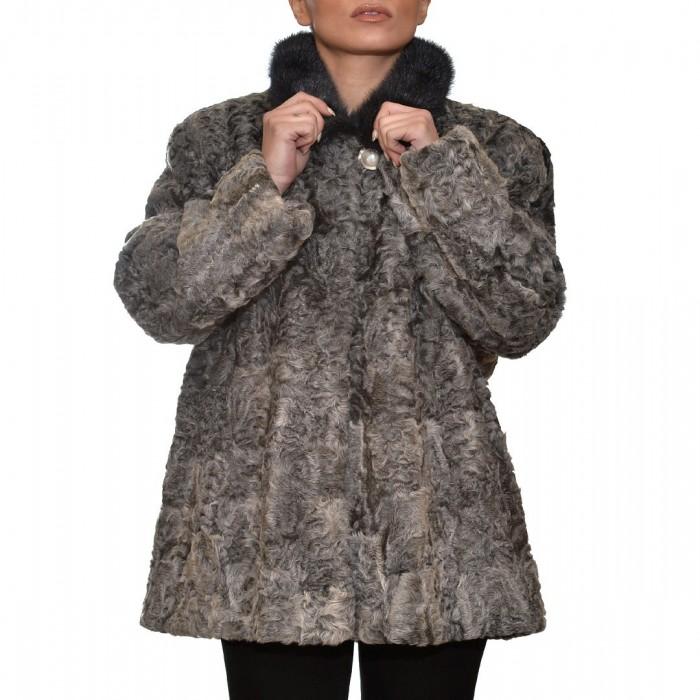 Γούνινη Ζακέτα Αστραγκάν 75cm Grey ΣΙΟΥΤΗΣ (142)
