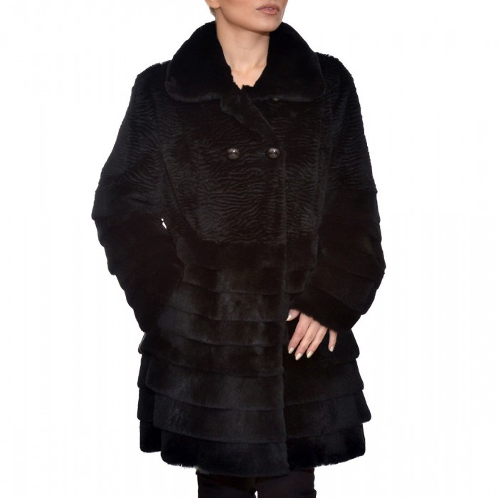 Γουνάκι Lapin Rex 89cm Black  +39 (MA-606)