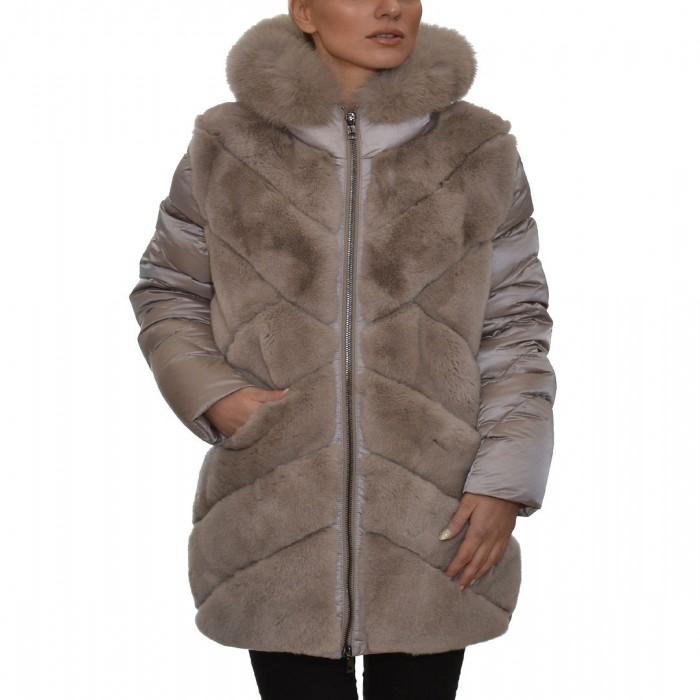 Γουνάκι-Ύφασμα παλτό Elephant INTUITION PARIS (Lucille)