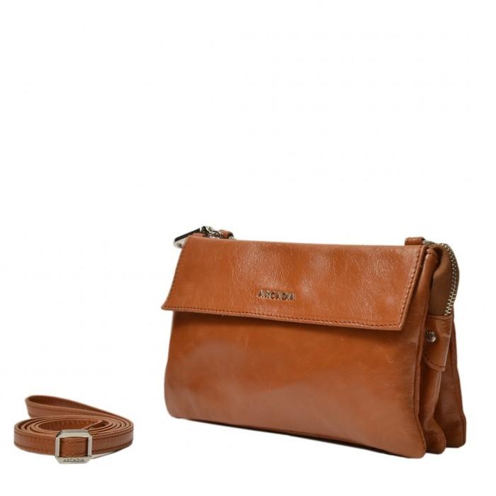 Δερμάτινη τσάντα Arcadia Ταμπά Χιαστί (341)