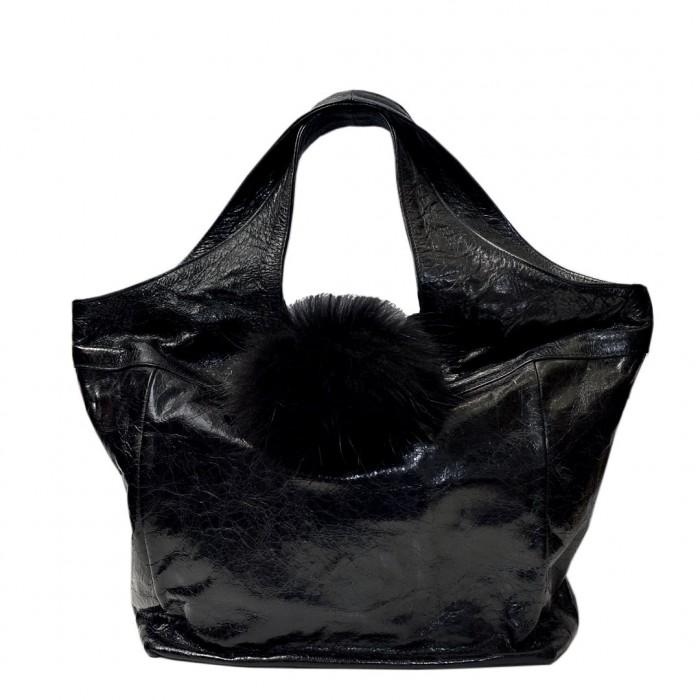 Δερμάτινη τσάντα Arcadia Μαύρη Χειρός (2967)